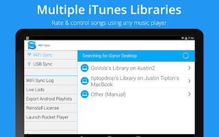 Screenshot of iSyncr for iTunes to Android