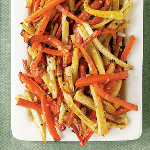 Roasted Carrots & Parsnips with Shallot & Herb Butter