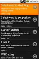 Screenshot of Phone Finder