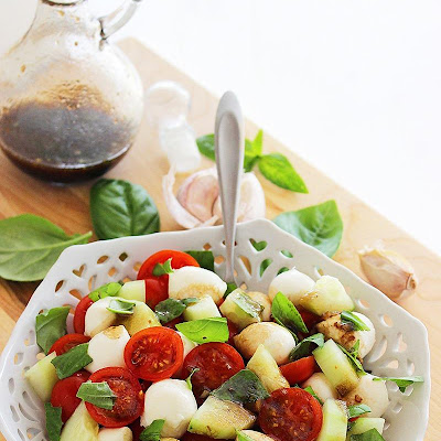 Chopped Cucumber Caprese Salad