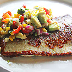 Pan-Fried Whitefish With Corn, Avocado, Lime and Basil Relish
