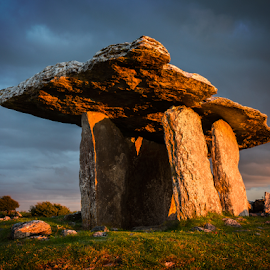 Poulnabrone Dolmen by Kevin Egan - Landscapes Travel ( ireland, ancient, poulnabrone dolmen, color, neolithic, burial )