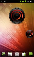 Screenshot of MIUI Spiral RED Analog Clock