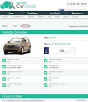 Screenshot of Instant Car Check