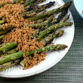 Grilled Asparagus with Buttery Breadcrumbs