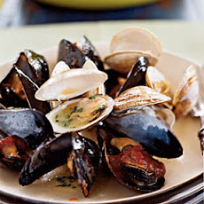 Steamed Mussels and Clams with Two Sauces