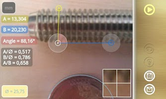 Screenshot of Diskometer - camera measure