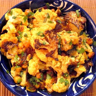 Roasted Curried Cauliflower