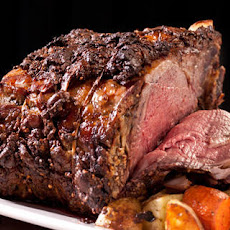 Mustard-Peppercorn Rib Roast Recipe