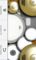 Screenshot of DroiDrum - a basic drum set