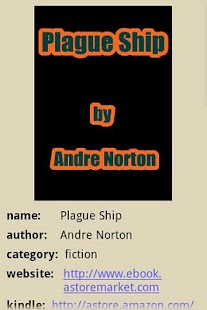 Plague Ship by Andre Norton - screenshot