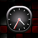 Red Bold Analog Clock icon