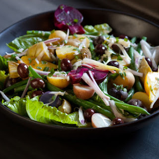 Baby Vegetable Nicoise Salad with Creamy Dressing & Tarragon