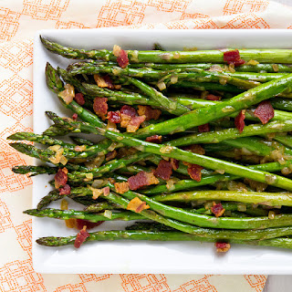 Roasted Asparagus with Bacon Vinaigrette