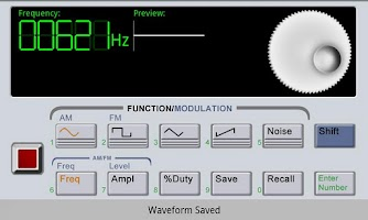 Screenshot of Waveform Generator Demo