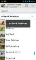 Screenshot of Mammals of Southern Africa