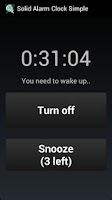 Screenshot of Solid Alarm Clock Simple