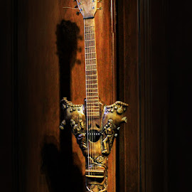 Bamboo Guitar by Bench Bryan - Artistic Objects Antiques ( #photografixbybenchbryan )