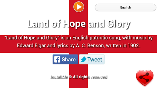National Anthem of England - screenshot
