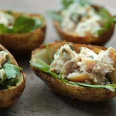 Smoked Trout Potato Skins