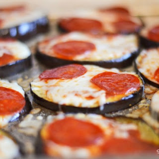 EggPlant Pepperoni Pizza Recipe #Healthy #Glutenfree