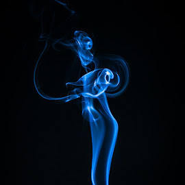 by Dale Pausinga - Abstract Light Painting ( figure, whisp, floating, air, insence, smoke,  )