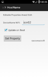 Change HostName DeviceNameWiFi - screenshot