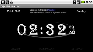 Screenshot of Ingenious Alarm Trial