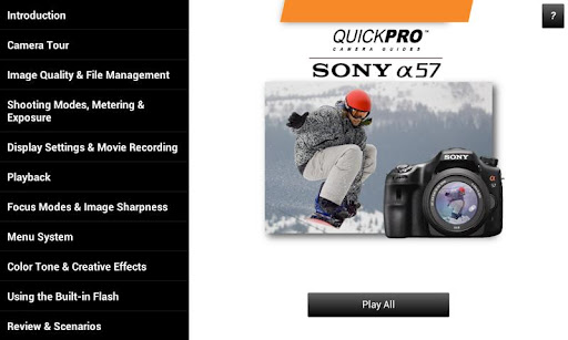Guide to Sony a57