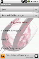 Screenshot of Wine Finder