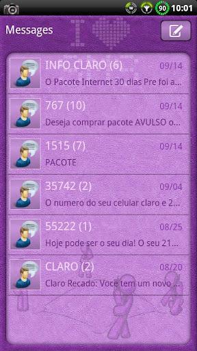 I Love SMS GO SMS Theme