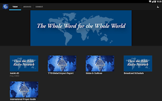 Screenshot of Thru The Bible Radio Network