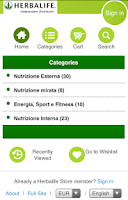Screenshot of Herbalife Store
