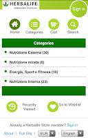 Screenshot of Herbalife Store