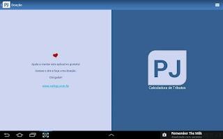 Screenshot of Calculadora de Tributos PJ