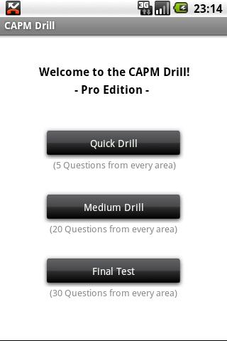 Drill for the CAPM® Exam