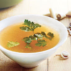 Lemony, Fragrant Chicken Broth