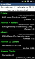 Screenshot of Names Of God