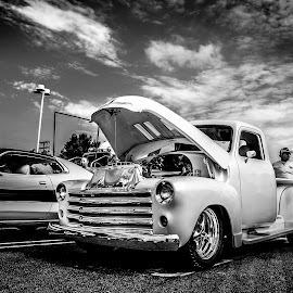 Black in white  oldies style by Stephanie Strosser - Transportation Automobiles