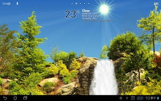 Screenshot of True Weather, Waterfalls FREE