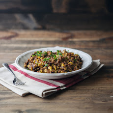 Sun-Dried Tomato and Corn Farro Risotto