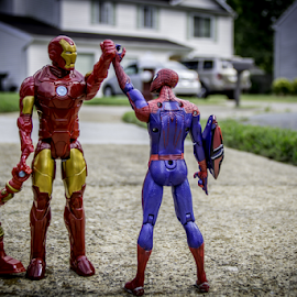 Another Day in the Neighborhood by Aulander Skinner - Artistic Objects Toys ( neighborhood, action figures, super heroes )