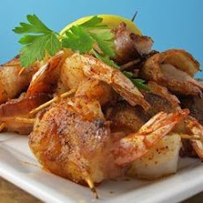 Bacon Wrapped Barbeque Shrimp