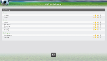 Screenshot of FM Coach Calculator
