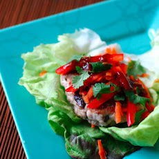 Asian Pork and Mushroom Burger Wraps