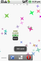 Screenshot of One Click SMS Demo