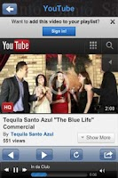 Screenshot of Tequila Santo Azul