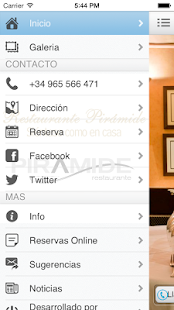 Restaurante Pirámide - screenshot