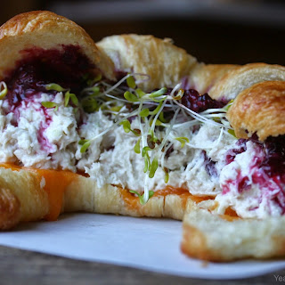 Chicken Salad and Blackberry Croissant