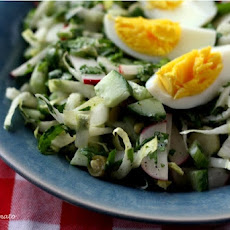 Lettuce Free Salad: Endive Salad with Pickled Beans, Radishes & Eggs